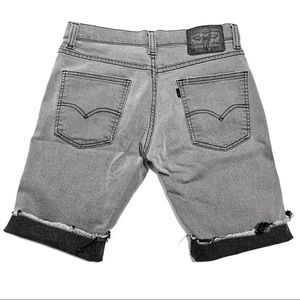 Levi's 511 Distressed Mid Thigh Jean Shorts Grey